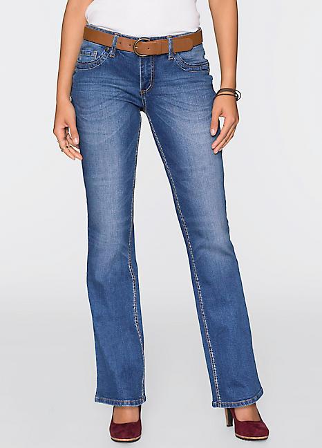 john baner jeanswear belted boot cut jeans witt. Black Bedroom Furniture Sets. Home Design Ideas