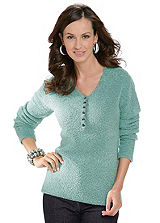 Bouclé V-Neck Jumper