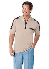 Catamaran Zip Up Polo Shirt