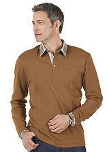 Cotton Layered Look Polo Shirt