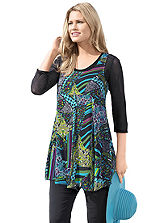 Empire Line Printed Tunic
