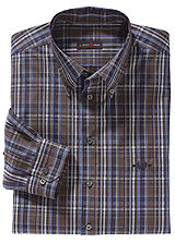Long Sleeved Cotton Checked Shirt