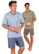 Pack of 2 Jersey Pyjama Shorts Set