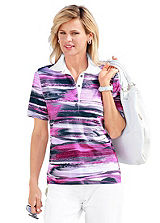 Patterned High Sheen Polo Shirt
