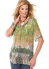 Summer Patterned Tunic Top