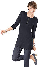 Zip Neck Tunic Top