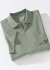 Zip Up Summer Polo Shirt